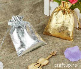 Săculeți metalizați dreptunghiulari - auriu și argintiu - craftup.ro