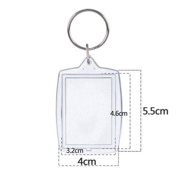 Breloc transparent dreptunghiular blank 2 craftup.ro