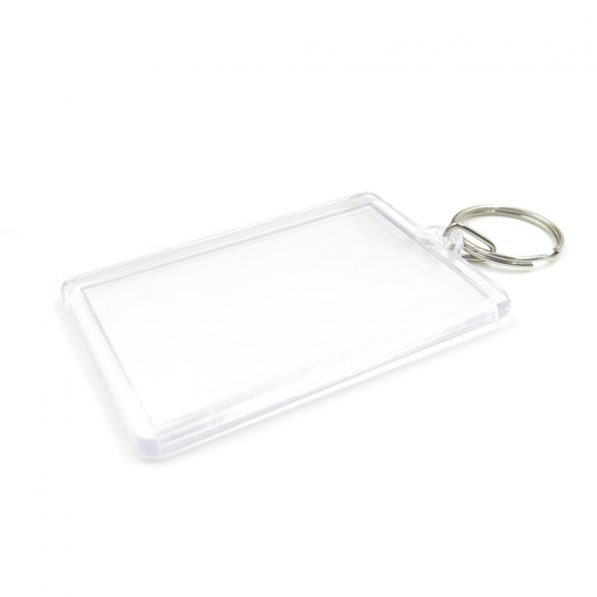 Breloc transparent dreptunghiular (blank) 6,9x4,3cm - craftup.ro