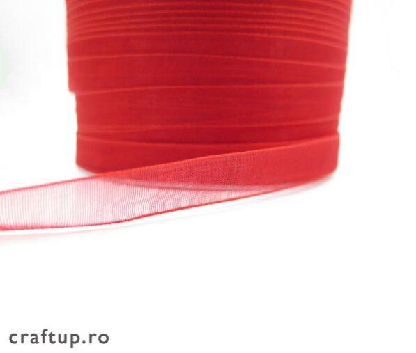 Banda organza 1cm rosu 2 craftup.ro