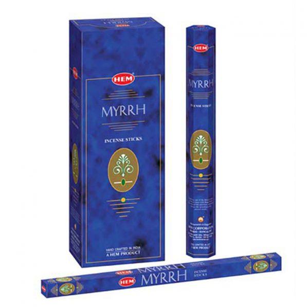 Betisoare parfumate HEM - MYRRH - craftup.ro