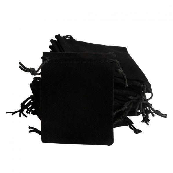 Saculeti catifea dreptunghiulari - negru 3 - craftup.ro