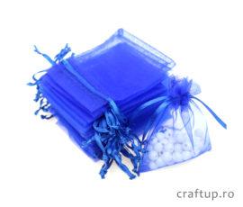 Săculeți organza dreptunghiulari - albastru - craftup.ro