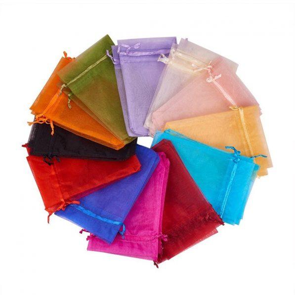 Săculeți organza dreptunghiulari - multicolor - craftup.ro