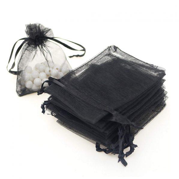Săculeți organza dreptunghiulari - negru 2 - craftup.ro