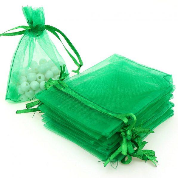 Săculeți organza dreptunghiulari - verde 2 - craftup.ro