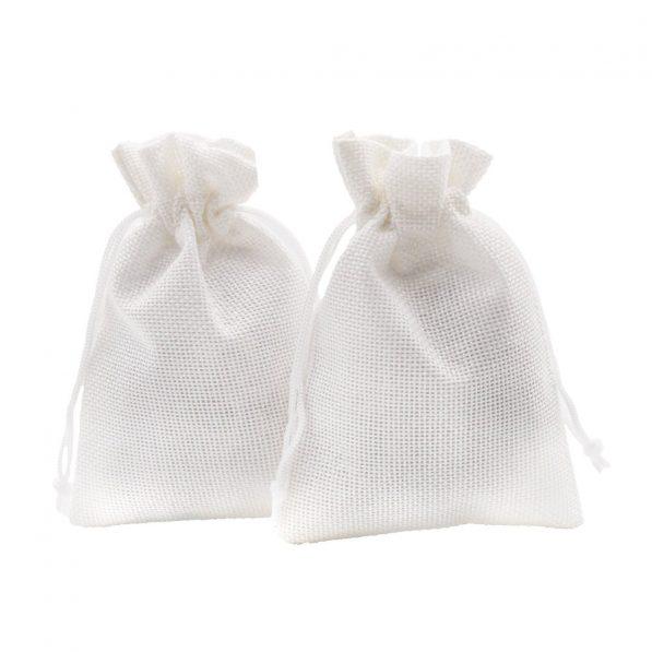 Săculeți textil dreptunghiulari - alb - craftup.ro