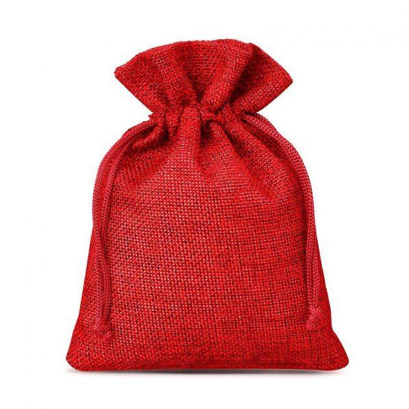Săculeți textil dreptunghiulari - roșu 3 - craftup.ro