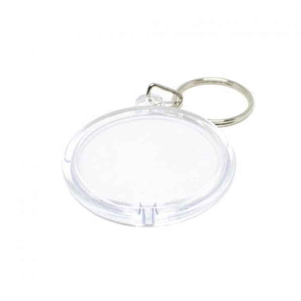 Breloc transparent rotund (blank) 4,7cm - craftup.ro