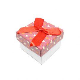 Cutii cadou cu fundă și inimi pentru inel sau cercei - 1 - craftup.ro