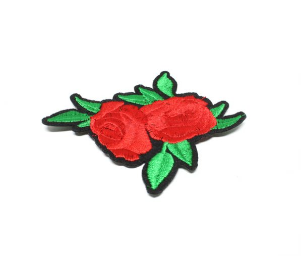 Sticker textil doi trandafiri PTW11 craftup.ro