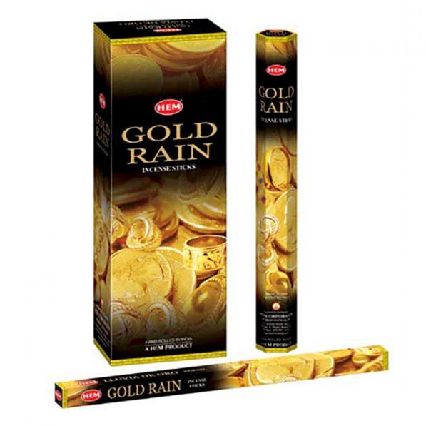 Betisoare parfumate HEM - GOLD RAIN - craftup.ro