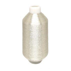 Ață de brodat metalizată - argintiu 2 - craftup.ro