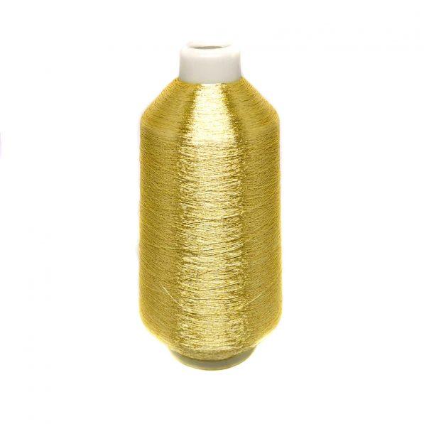 Ață de brodat metalizată - auriu închis - craftup.ro