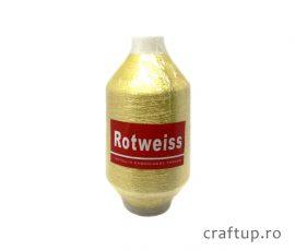 Ață de brodat metalizată - auriu - craftup.ro