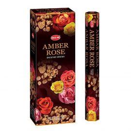 Betisoare parfumate HEM - AMBER ROSE - craftup.ro