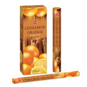 Betisoare parfumate HEM - CINNAMON ORANGE - craftup.ro
