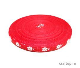 Bandă decorativă - Blanka 10mm - roșu - craftup.ro