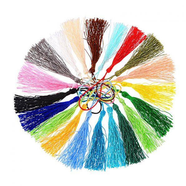 Ciucuri textil cu agatatoare 12cm multicolor craftup.ro  1