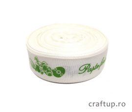 Bandă decorativă - Tafina 25mm - Paște Fericit - verde - craftup.ro