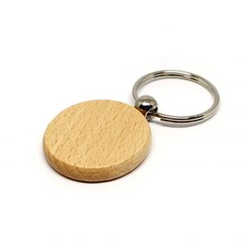 Breloc lemn rotund (blank) - craftup.ro