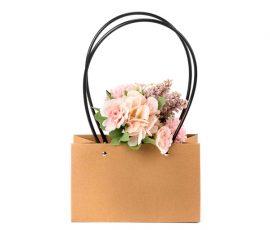 Pungi kraft dreptunghiulare cu mâner pentru flori 2 - craftup.ro