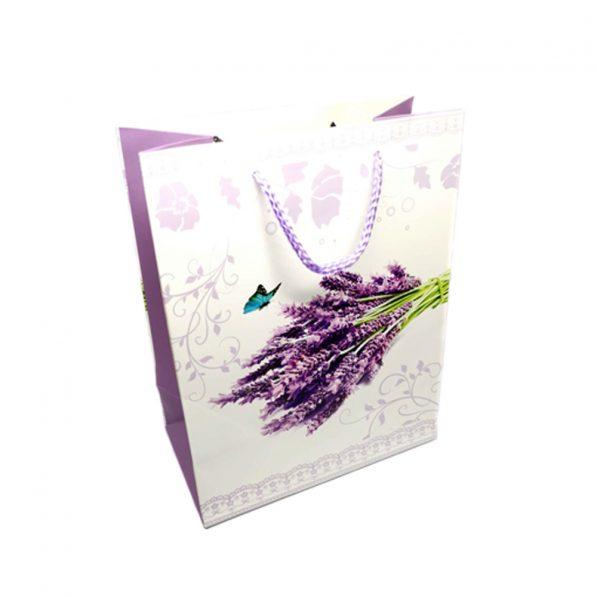 Pungi cadou din hârtie - buchet lavandă - craftup.ro