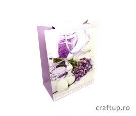 Pungi cadou din hârtie, model decorațiuni lavandă - craftup.ro
