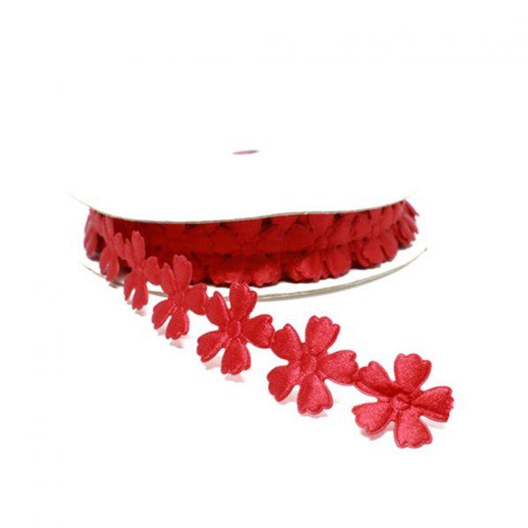Aplicatii decorative cu flori rosu craftup.ro