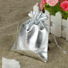 Săculeți metalizați dreptunghiulari - argintiu - craftup.ro