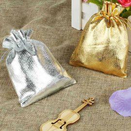 Săculeți metalizați dreptunghiulari - auriu si argintiu - craftup.ro