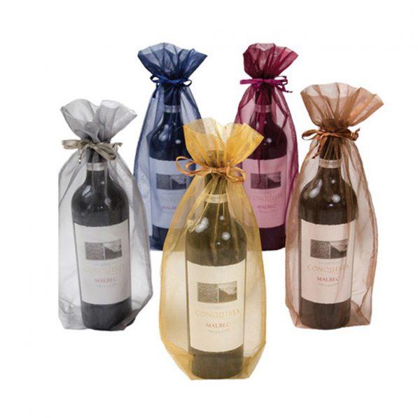 Saculeti organza dreptunghiulari pentru sticle multicolor craftup.ro 1