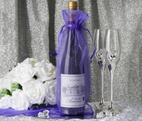 Săculeți organza dreptunghiulari pentru sticle - nunta - craftup.ro