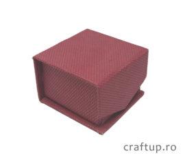 Cutie bijuterii mică cu clapetă pentru inel sau cercei - vișiniu - 1 - craftup.ro