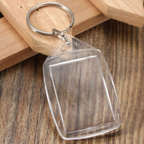 Breloc transparent dreptunghiular mic (blank) 2 - craftup.ro