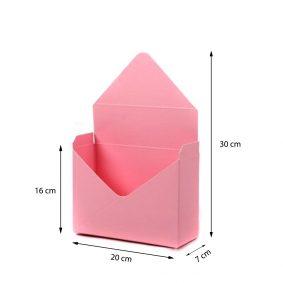 Cutii tip plic - roz - marimi - craftup.ro