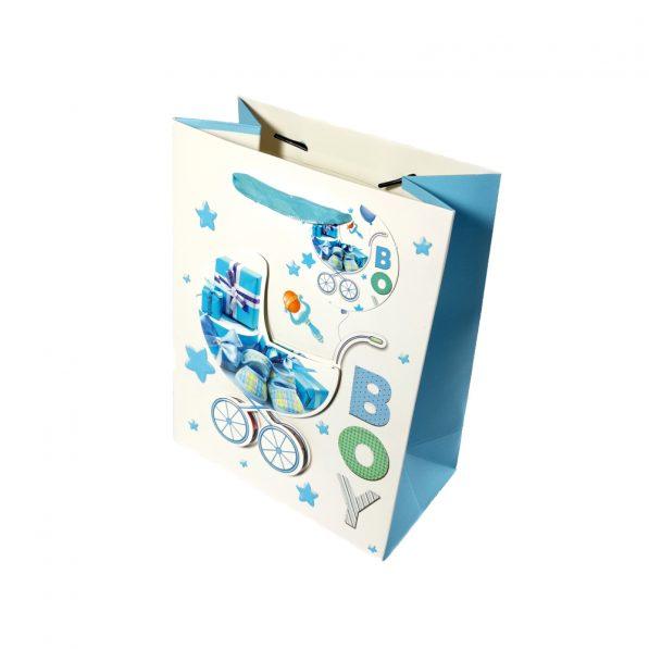 Pungi cadou 3D pentru copii model baieți carucior - craftup.ro