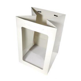Pungi hârtie cu fereastră - alb - craftup.ro