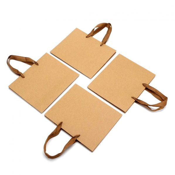 Pungi kraft cu mâner textil - dreptunghi 1 - craftup.ro