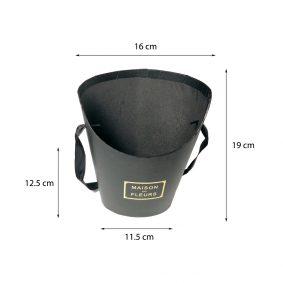 Coșuleț cu mâner Maison des Fleurs - negru mărimi - craftup.ro