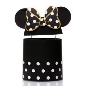 Set 3 cutii rotunde cu buline și urechi Minnie Mouse - negru 2