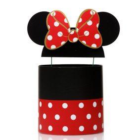 Set 3 cutii rotunde cu buline și urechi Minnie Mouse - negru/roșu 2