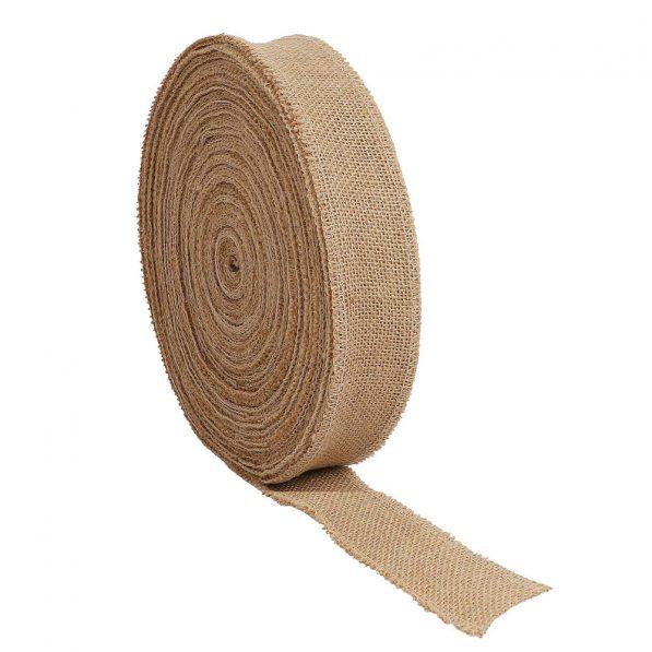 Panglică iută, lățime 5cm, lungime 50m 2 - craftup.ro