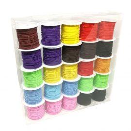 Set 25 conuri sfoară elastică poliester - multicolor - craftup.ro