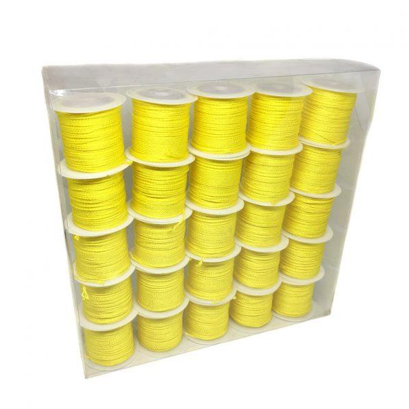 Set 25 conuri sfoară poliester - galben - craftup.ro