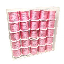 Set 25 conuri sfoară poliester - roz - craftup.ro