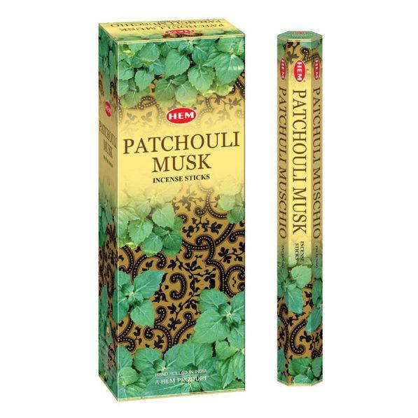 Betisoare parfumate HEM - PATCHOULI MUSK - craftup.ro