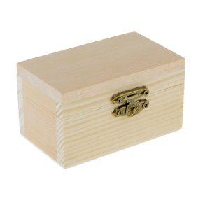 Cutie dreptunghiulară din lemn cu capac 5,4x9x5cm 1