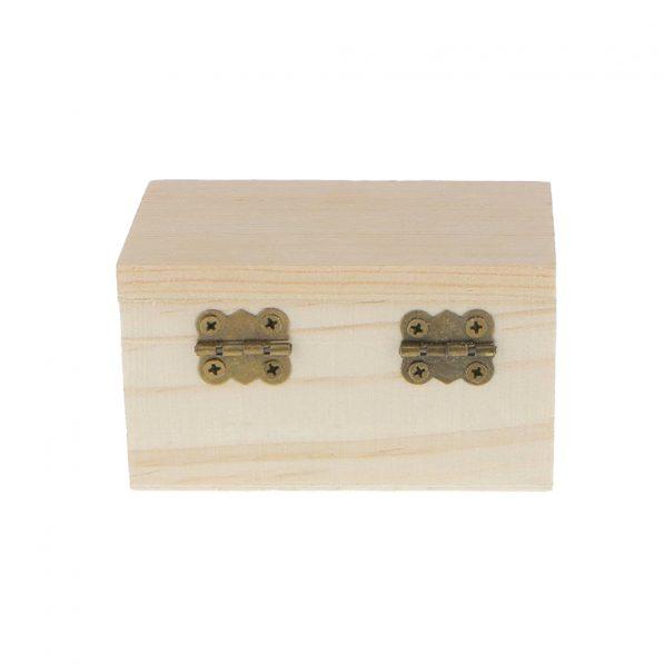 Cutie dreptunghiulară din lemn cu capac 5,4x9x5cm 3