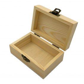 Cutie dreptunghiulară din lemn cu capac 7x11x5cm 2